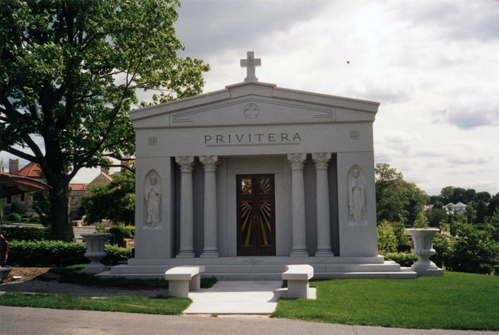 Rock Of Ages Privitera - Woodlawn Cemetery Everet, Mass. Woodlawn Memorials 2000 Gazebo Barre Gray, Capitals-Giuliano Cecchinelli Blessed Mother & Sacred Heart: Alcido Fantoni Gazebo Mary & Child: Walt Celley Capitals: Sylvian Metiver Vermont Granite Museum of Barre © 2001
